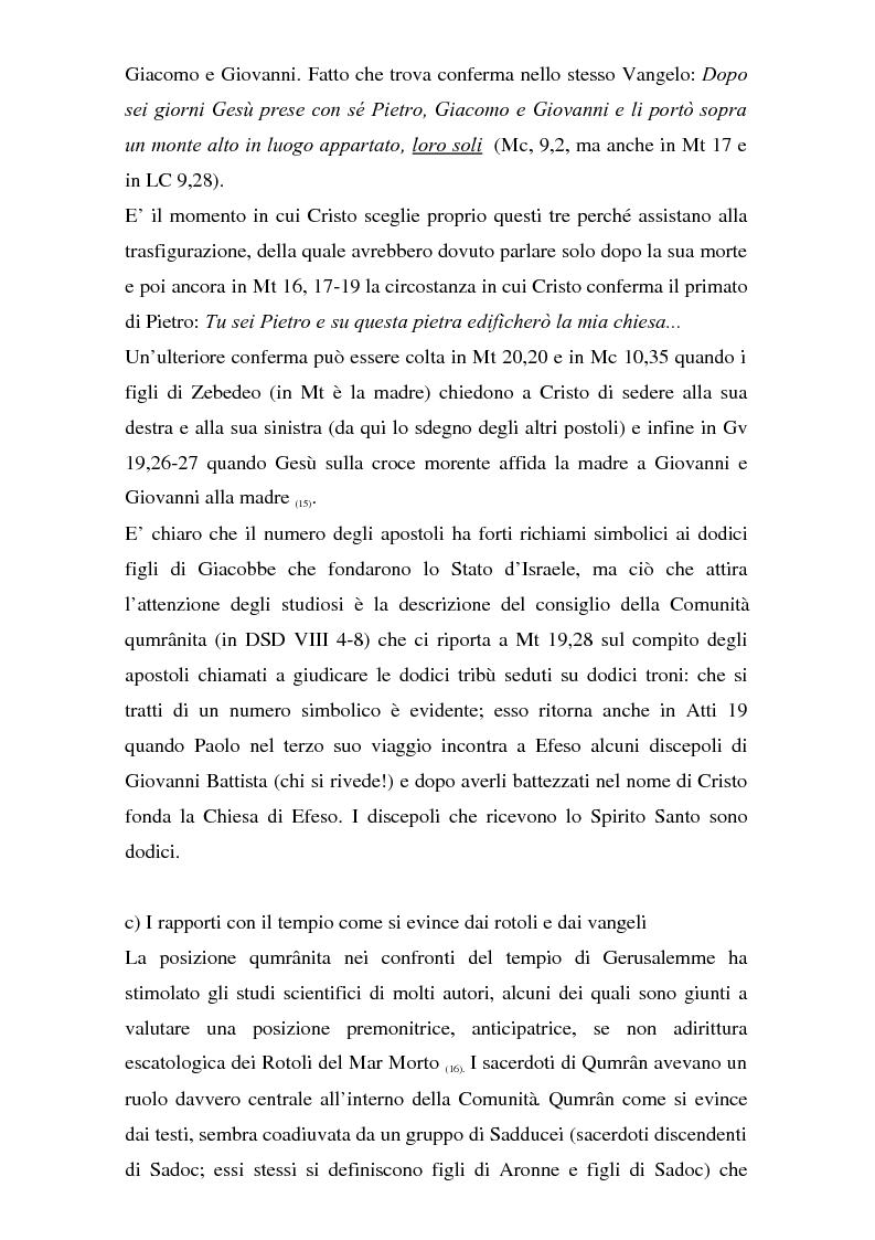Anteprima della tesi: Il problema dei rapporti tra i testi di Qumran e il Vangelo di Giovanni: un bilancio alla luce degli studi più recenti, Pagina 12