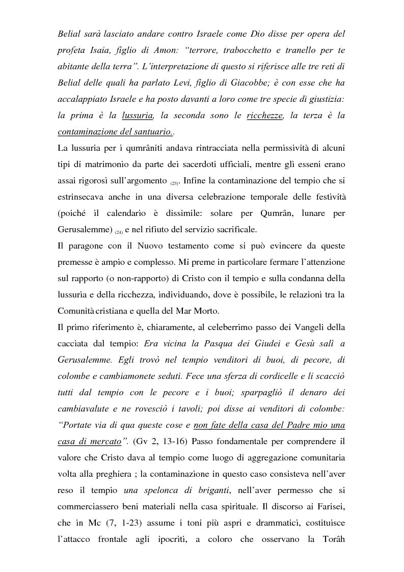 Anteprima della tesi: Il problema dei rapporti tra i testi di Qumran e il Vangelo di Giovanni: un bilancio alla luce degli studi più recenti, Pagina 14