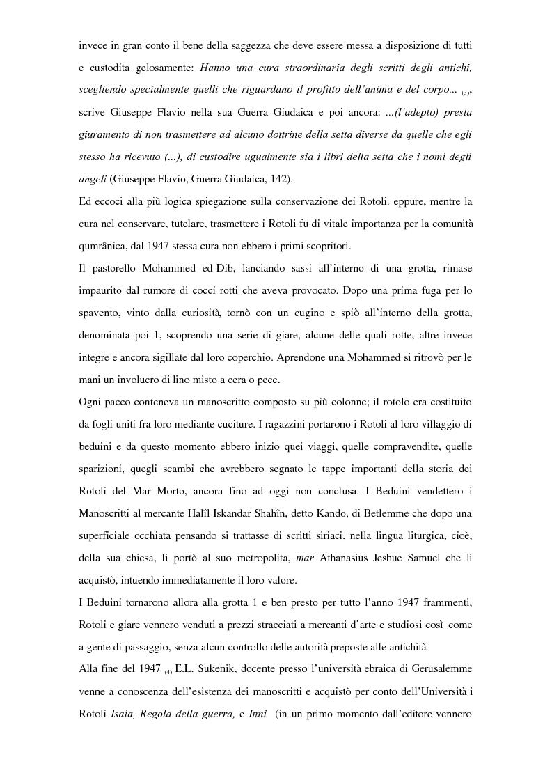 Anteprima della tesi: Il problema dei rapporti tra i testi di Qumran e il Vangelo di Giovanni: un bilancio alla luce degli studi più recenti, Pagina 2