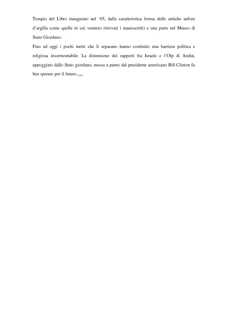 Anteprima della tesi: Il problema dei rapporti tra i testi di Qumran e il Vangelo di Giovanni: un bilancio alla luce degli studi più recenti, Pagina 5
