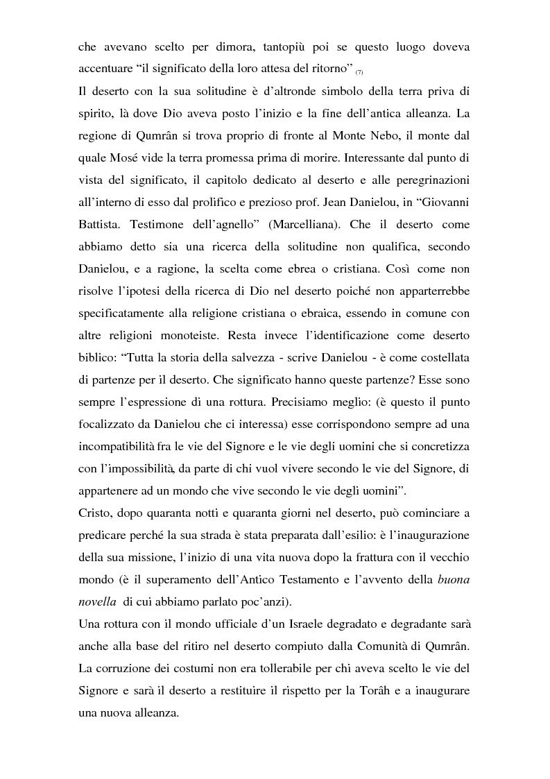 Anteprima della tesi: Il problema dei rapporti tra i testi di Qumran e il Vangelo di Giovanni: un bilancio alla luce degli studi più recenti, Pagina 8