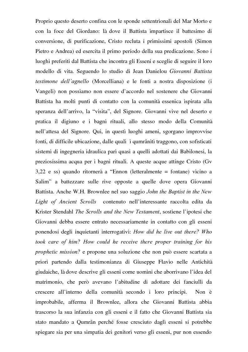 Anteprima della tesi: Il problema dei rapporti tra i testi di Qumran e il Vangelo di Giovanni: un bilancio alla luce degli studi più recenti, Pagina 9