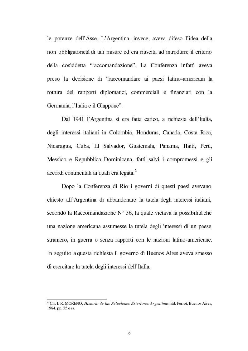 Anteprima della tesi: Le relazioni tra l'Italia e l'Argentina durante i primi anni del governo Peron, 1945-1949, Pagina 6