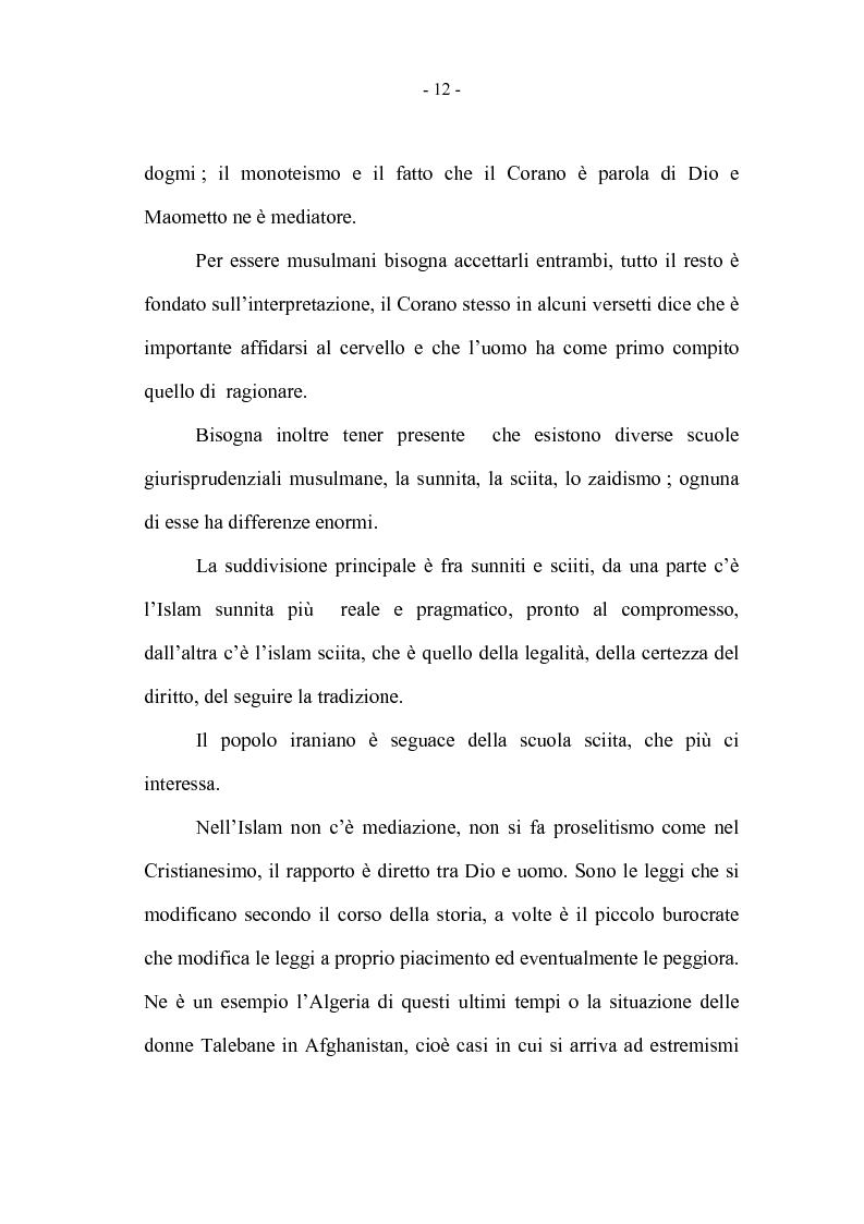 Anteprima della tesi: La coppia iraniana in Italia. La relazione di coppia, tra tradizione e migrazione., Pagina 12