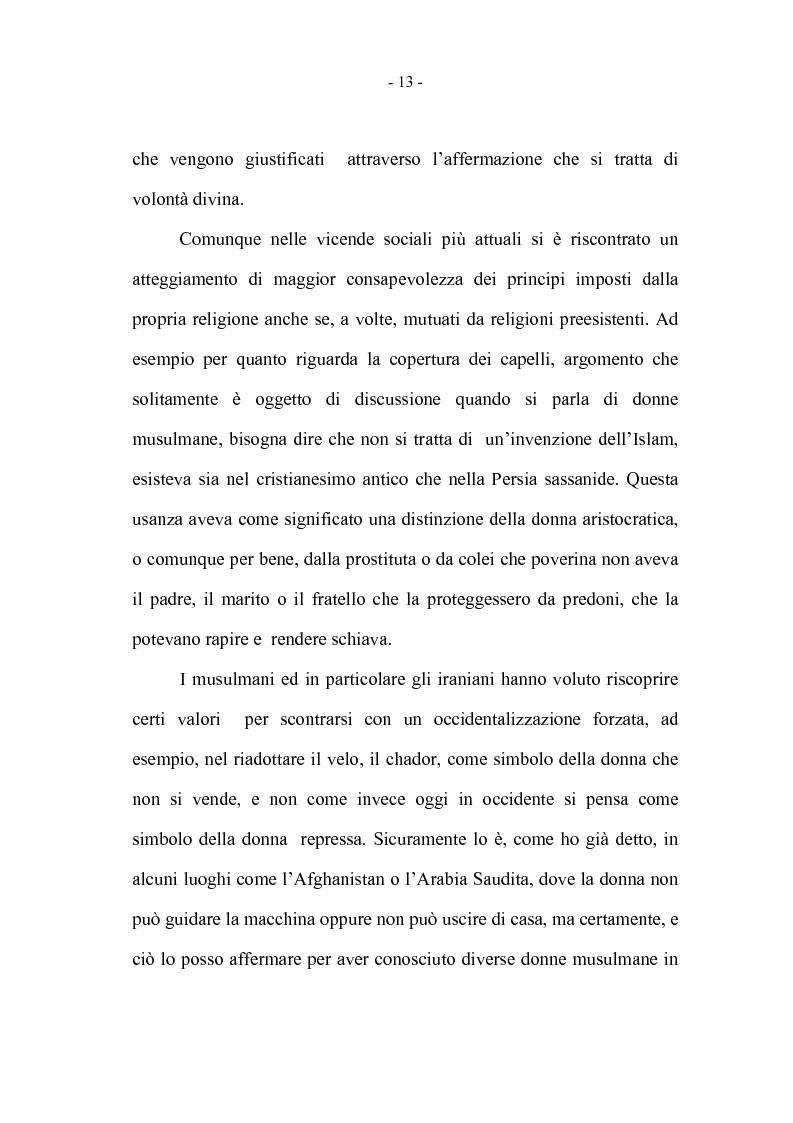 Anteprima della tesi: La coppia iraniana in Italia. La relazione di coppia, tra tradizione e migrazione., Pagina 13