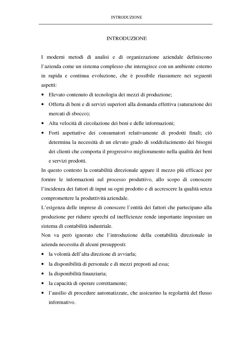 L'analisi dei costi consuntivi per area strategica d'affari e per prodotto. Il caso di un'impresa metalmeccanica - Tesi ...