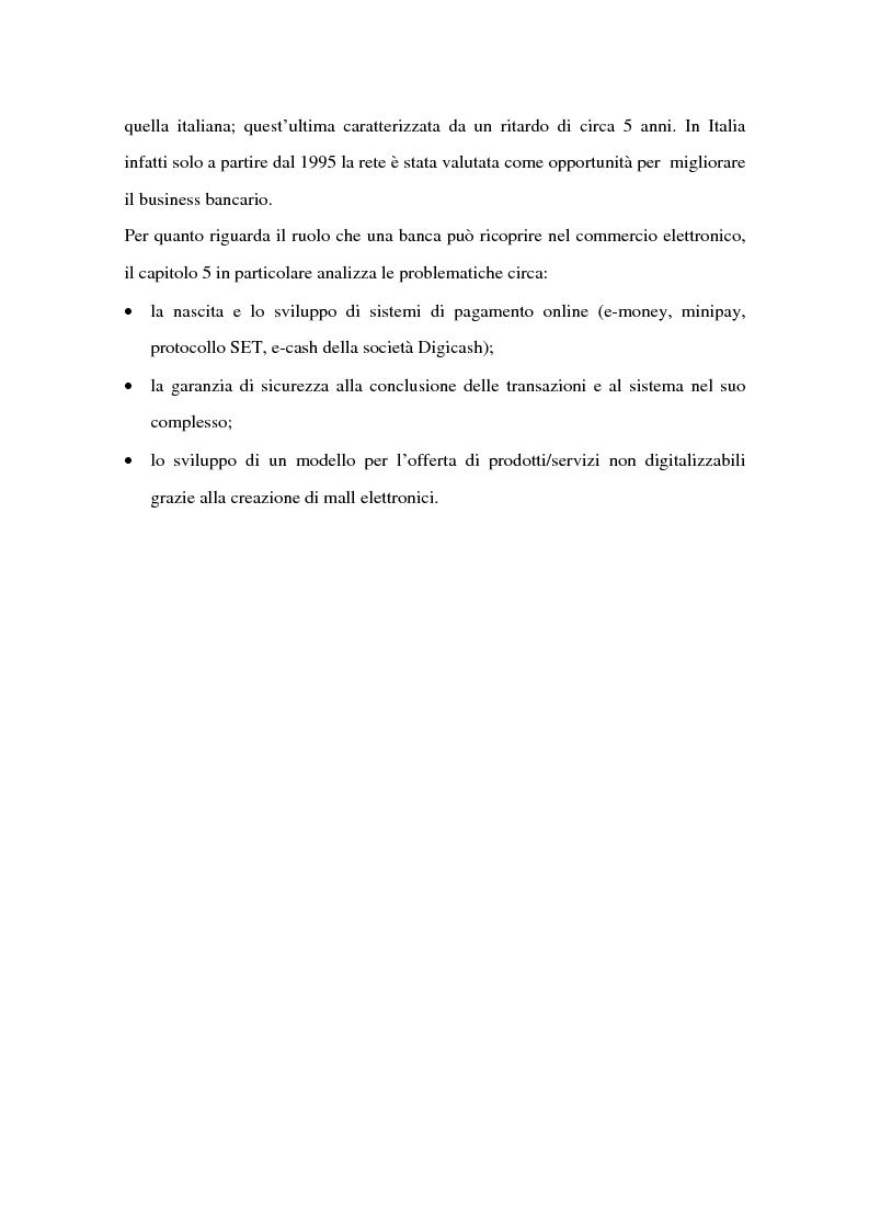 Anteprima della tesi: Il ruolo delle banche nel commercio elettronico, Pagina 4