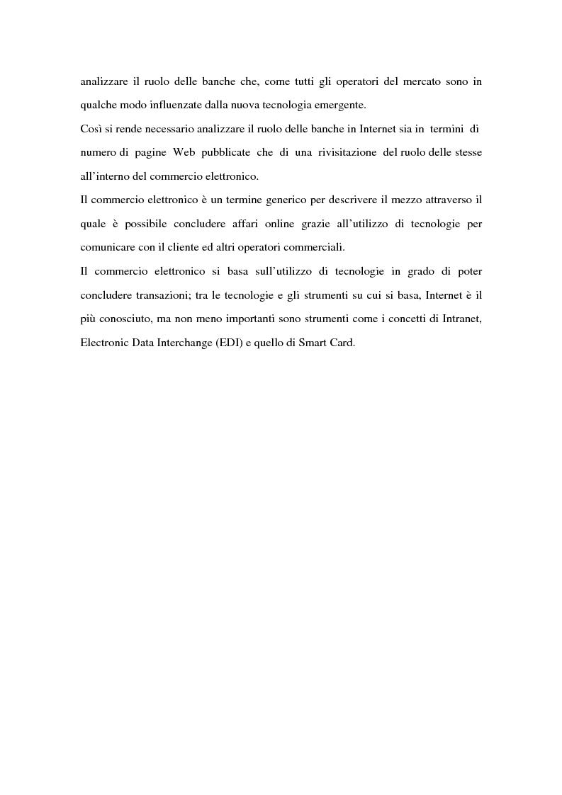 Anteprima della tesi: Il ruolo delle banche nel commercio elettronico, Pagina 8
