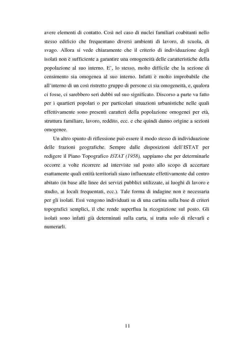 Anteprima della tesi: Proiezioni demografico-sociali per microaree: studio di fattibilità per il Comune di Vicenza, Pagina 11
