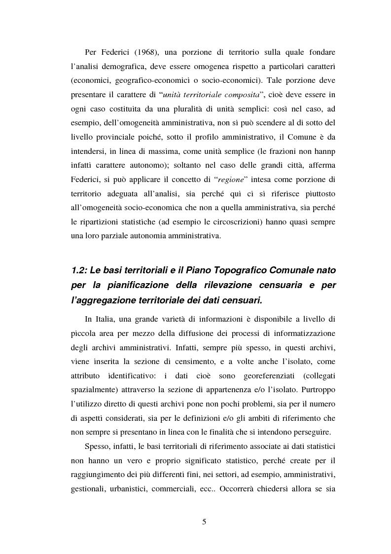 Anteprima della tesi: Proiezioni demografico-sociali per microaree: studio di fattibilità per il Comune di Vicenza, Pagina 5