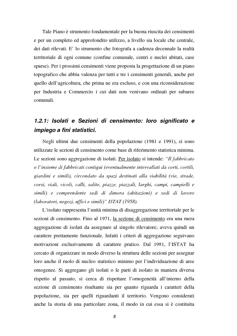 Anteprima della tesi: Proiezioni demografico-sociali per microaree: studio di fattibilità per il Comune di Vicenza, Pagina 8