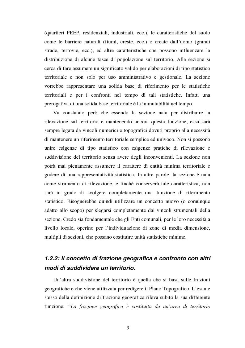 Anteprima della tesi: Proiezioni demografico-sociali per microaree: studio di fattibilità per il Comune di Vicenza, Pagina 9