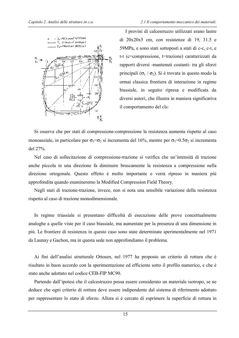 Anteprima della tesi: Analisi di elementi strutturali in calcestruzzo ad alta resistenza col modello Mcft e col modello di Cervenka, Pagina 12