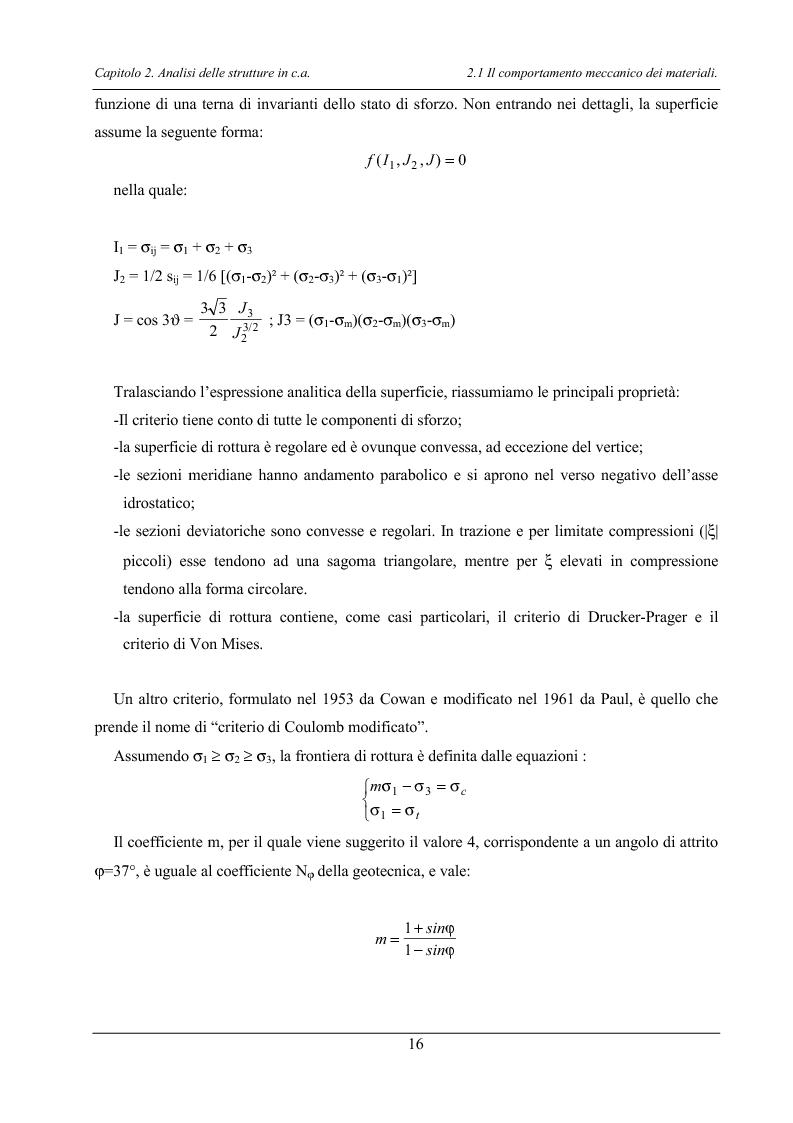 Anteprima della tesi: Analisi di elementi strutturali in calcestruzzo ad alta resistenza col modello Mcft e col modello di Cervenka, Pagina 13