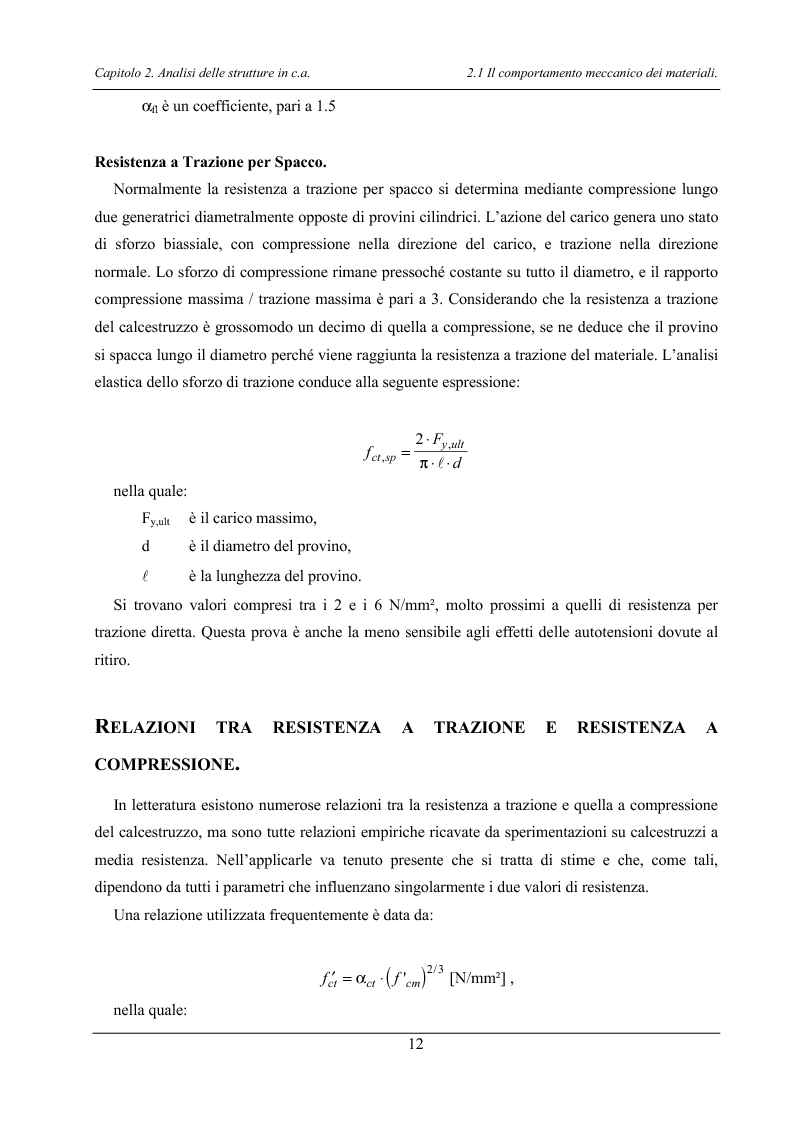 Anteprima della tesi: Analisi di elementi strutturali in calcestruzzo ad alta resistenza col modello Mcft e col modello di Cervenka, Pagina 9