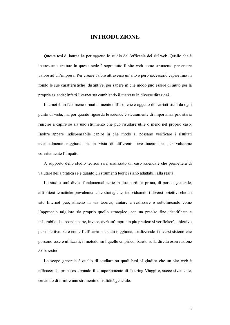 Anteprima della tesi: La valutazione dell'efficacia dei siti web, Pagina 1