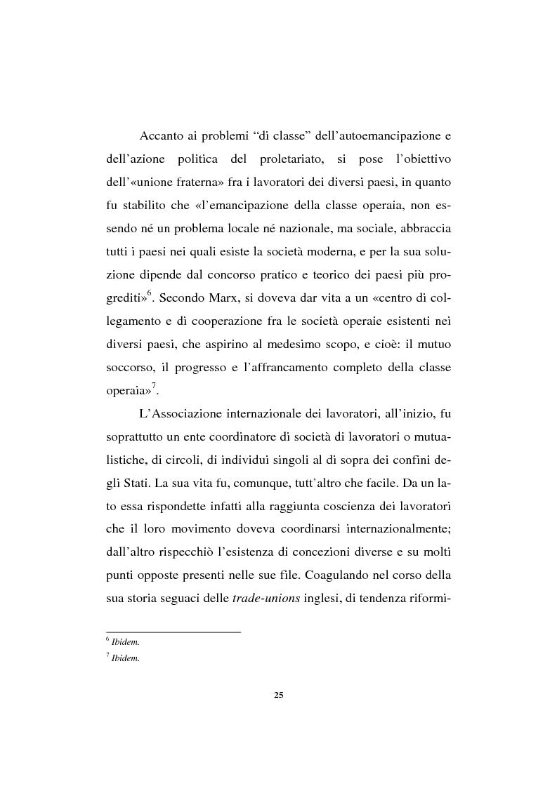 Anteprima della tesi: Il sindacalismo europeo. Dalle premesse storiche alla Confederazione europea dei sindacati., Pagina 13