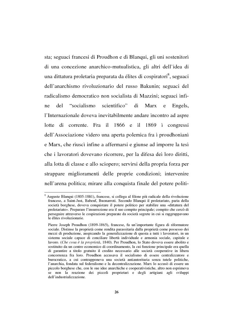 Anteprima della tesi: Il sindacalismo europeo. Dalle premesse storiche alla Confederazione europea dei sindacati., Pagina 14