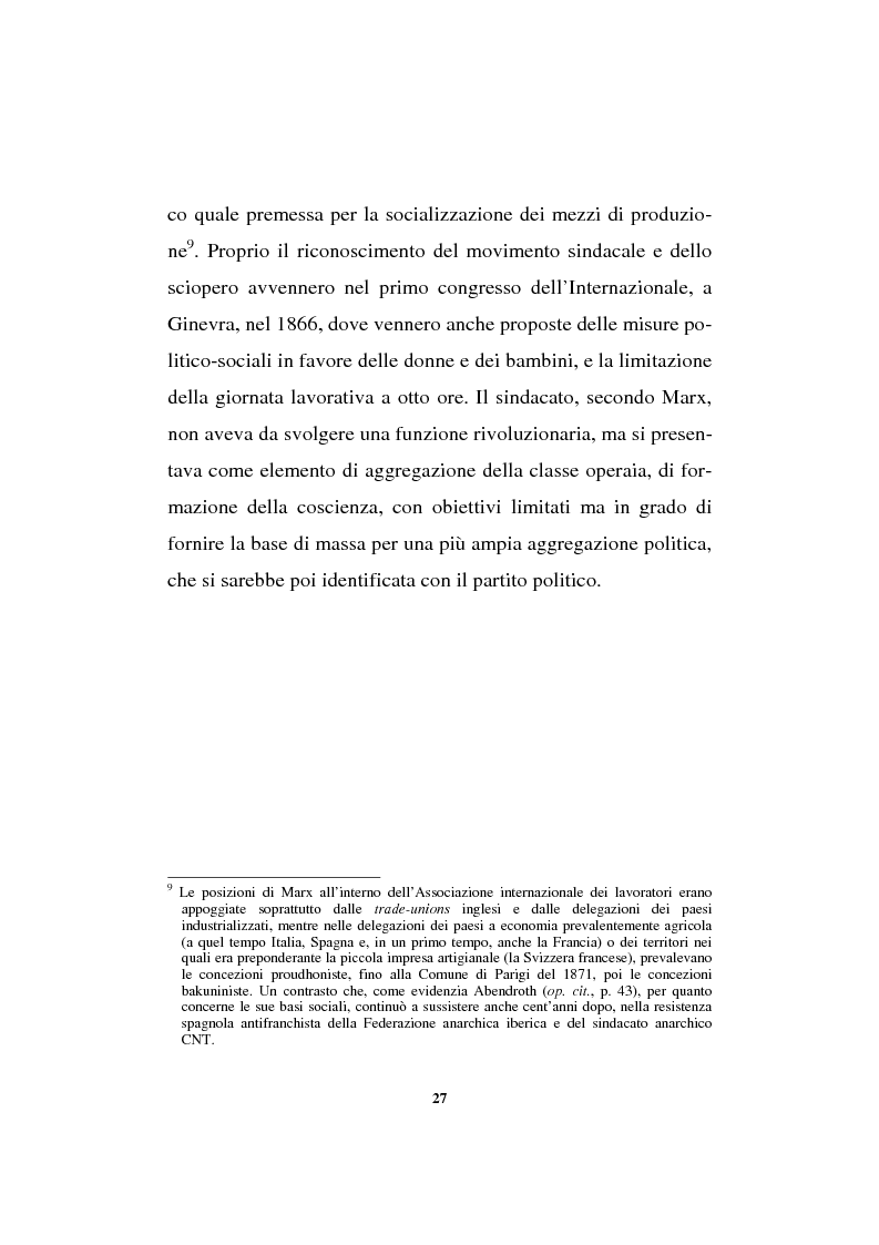 Anteprima della tesi: Il sindacalismo europeo. Dalle premesse storiche alla Confederazione europea dei sindacati., Pagina 15