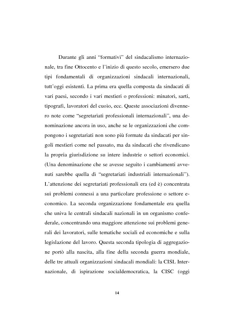 Anteprima della tesi: Il sindacalismo europeo. Dalle premesse storiche alla Confederazione europea dei sindacati., Pagina 2