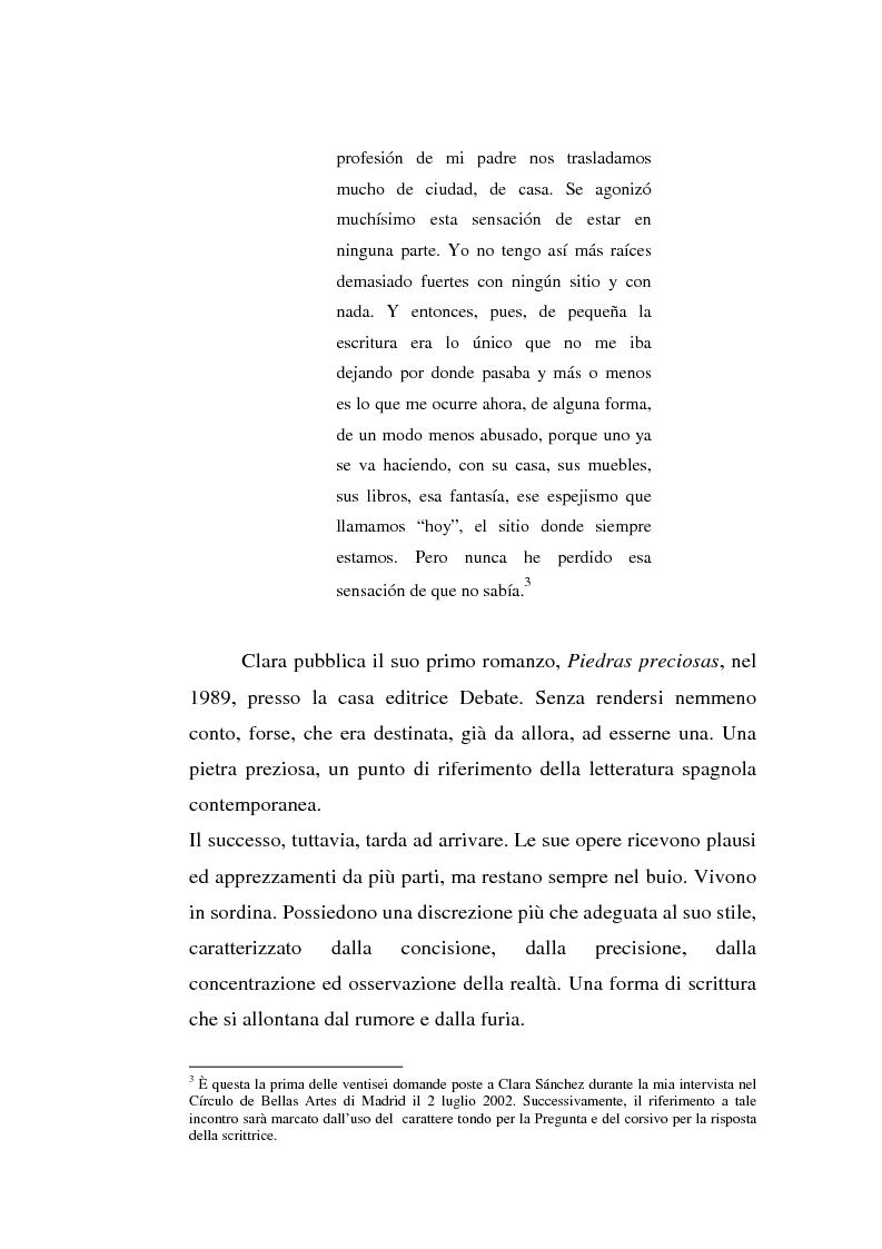 Estratto dalla tesi: Últimas noticias de Clara Sánchez