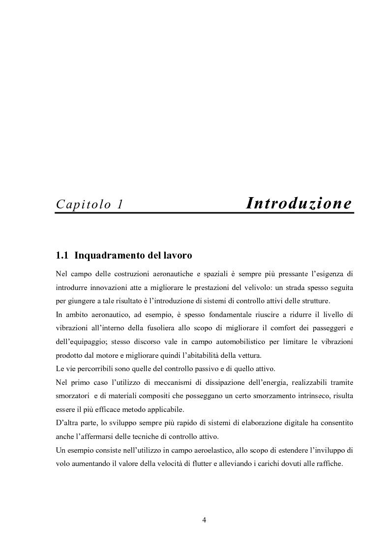 Anteprima della tesi: Sviluppo di attuatori in fibra piezoceramica, Pagina 1