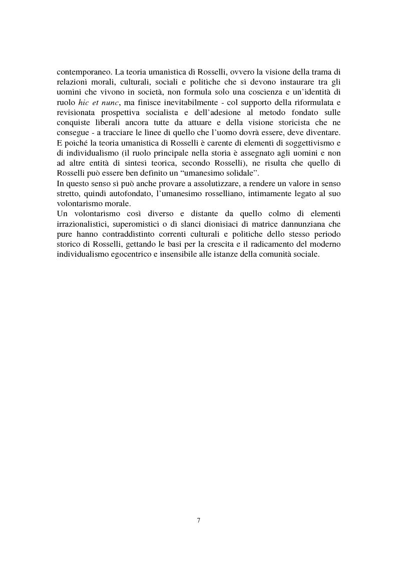 Anteprima della tesi: Il volontarismo di Carlo Rosselli. Una teoria umanistica per la riflessione politica., Pagina 5