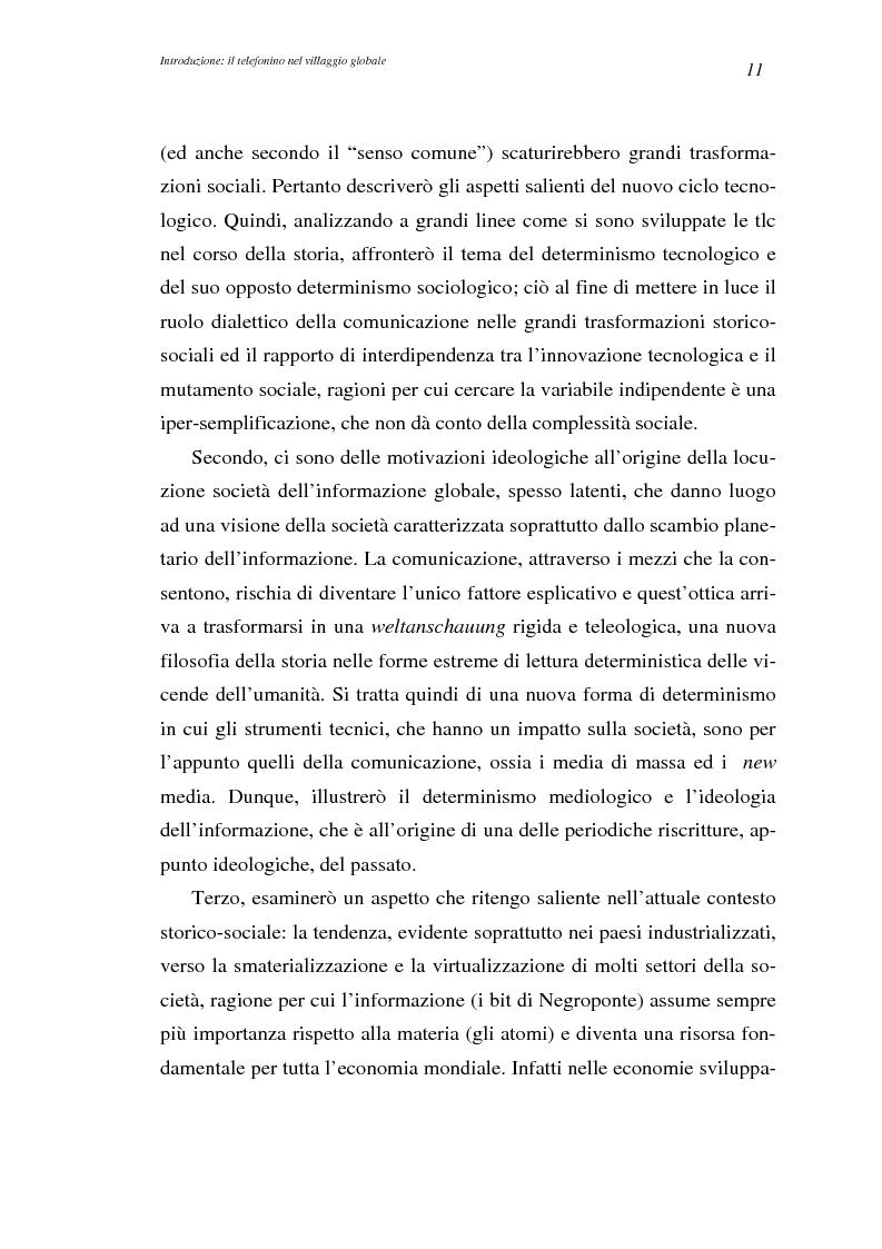 Anteprima della tesi: A spasso col mondo. Le telecomunicazioni mobili nella società dell'informazione globale. Il caso TIM., Pagina 11