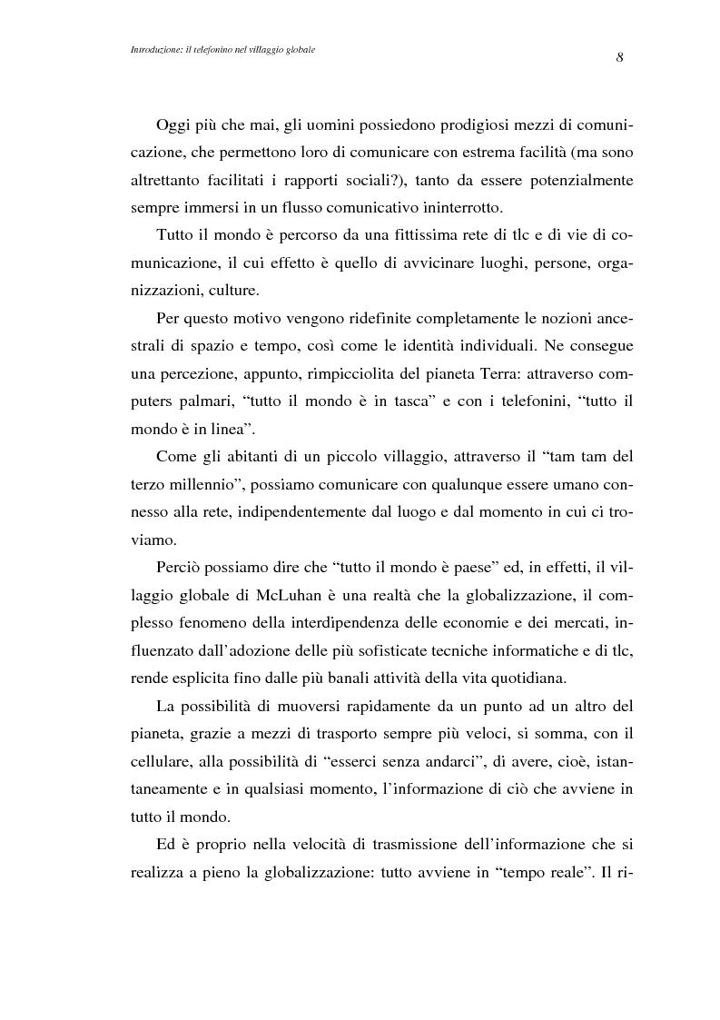Anteprima della tesi: A spasso col mondo. Le telecomunicazioni mobili nella società dell'informazione globale. Il caso TIM., Pagina 8