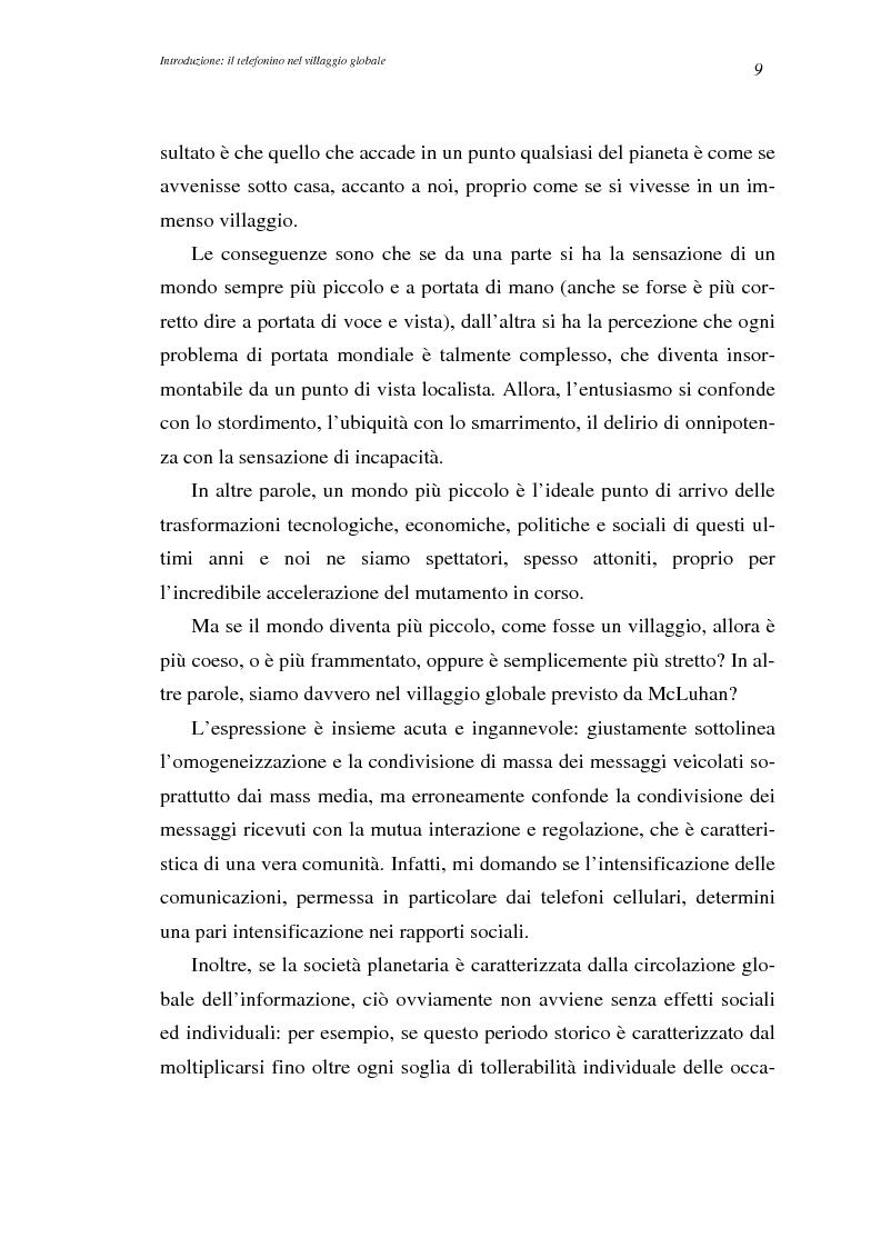 Anteprima della tesi: A spasso col mondo. Le telecomunicazioni mobili nella società dell'informazione globale. Il caso TIM., Pagina 9
