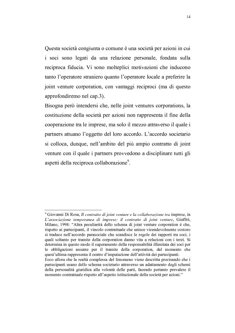 Anteprima della tesi: La costituzione di joint ventures miste con i paesi PECO, Pagina 10