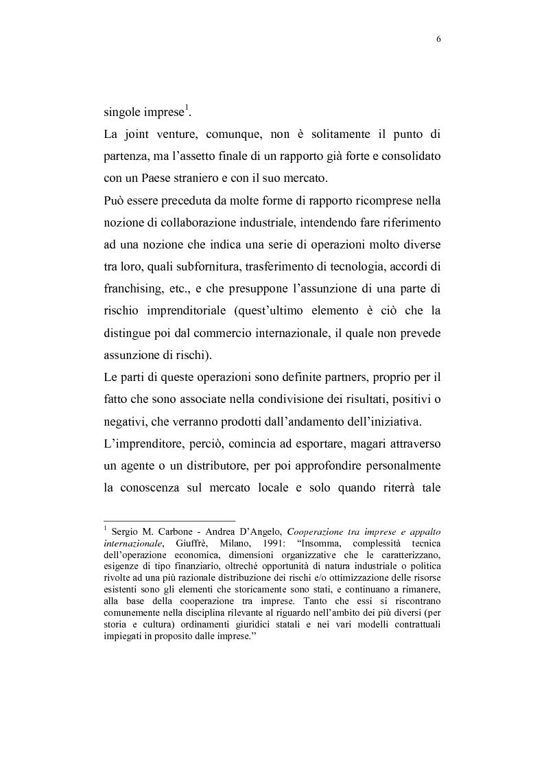 Anteprima della tesi: La costituzione di joint ventures miste con i paesi PECO, Pagina 2