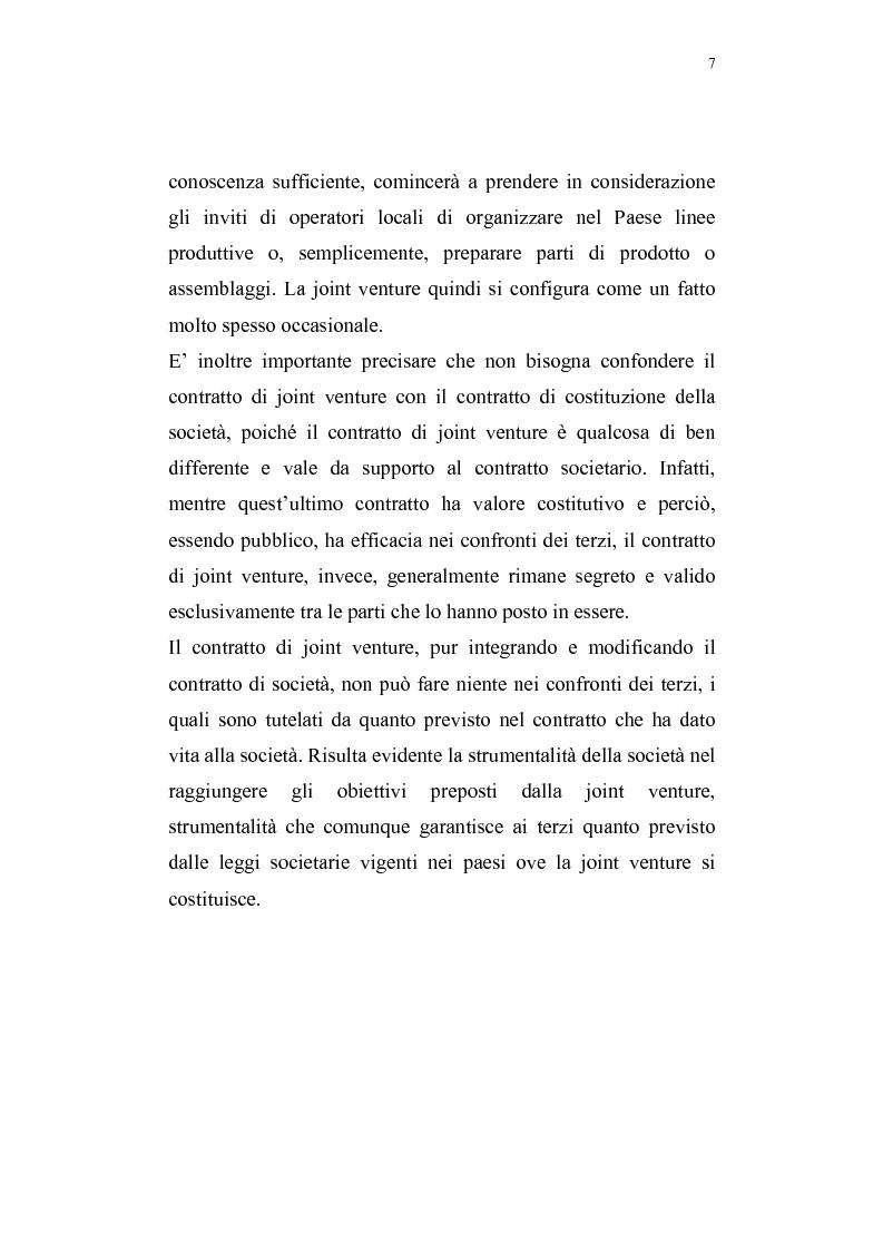 Anteprima della tesi: La costituzione di joint ventures miste con i paesi PECO, Pagina 3
