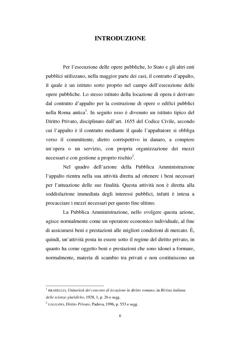 Anteprima della tesi: La semplificazione del procedimento di pubblico appalto, Pagina 1