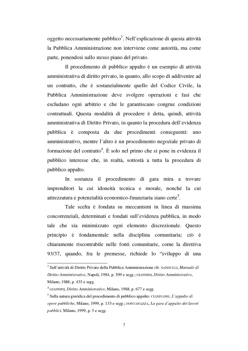 Anteprima della tesi: La semplificazione del procedimento di pubblico appalto, Pagina 2