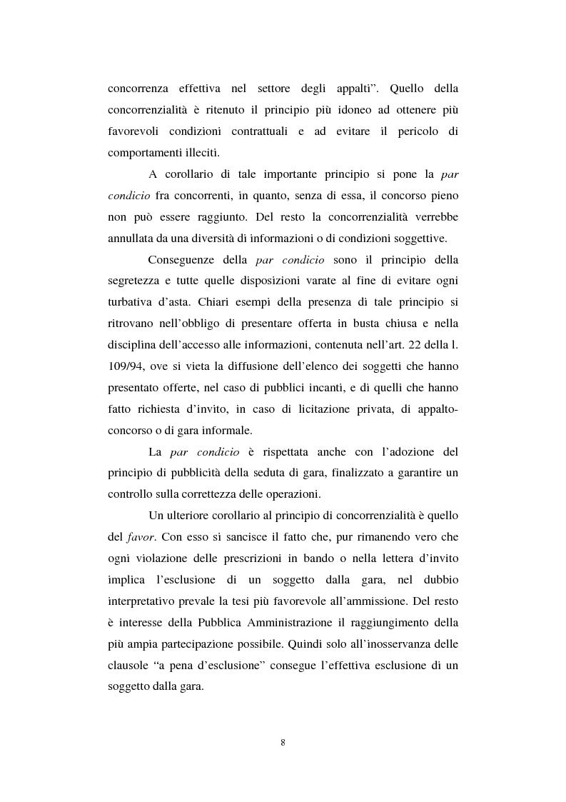 Anteprima della tesi: La semplificazione del procedimento di pubblico appalto, Pagina 3