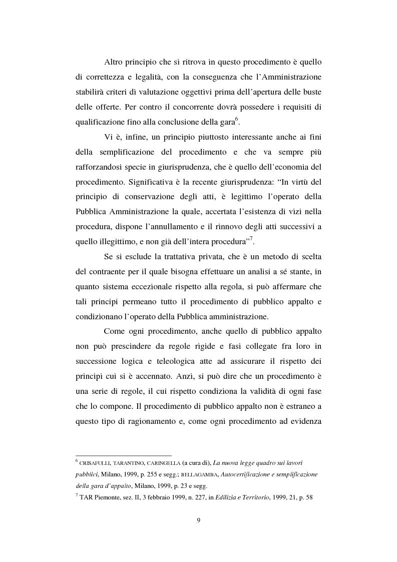 Anteprima della tesi: La semplificazione del procedimento di pubblico appalto, Pagina 4
