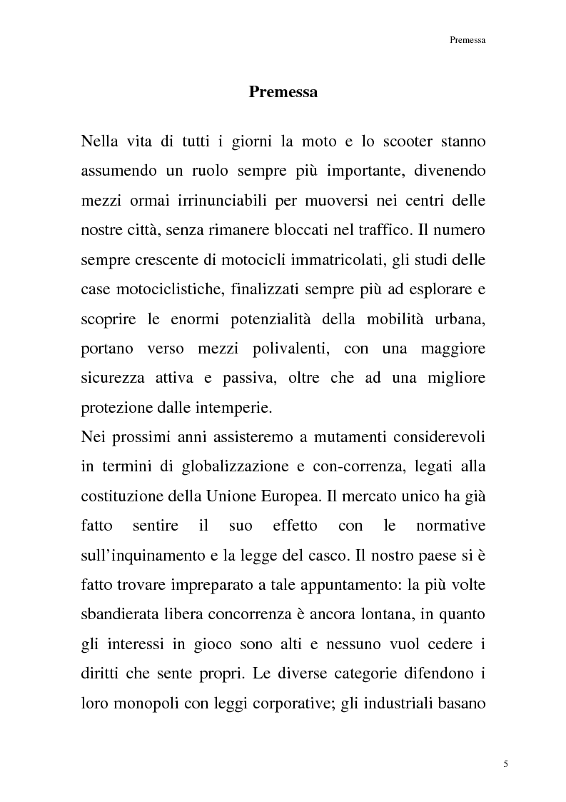 Anteprima della tesi: La commercializzazione delle moto in Italia e gli effetti della rottamazione sui C/F, Pagina 1