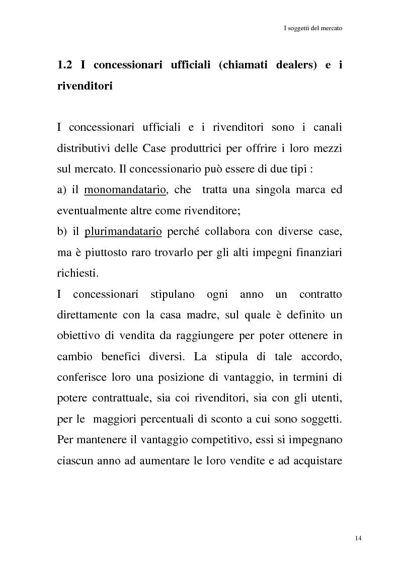 Anteprima della tesi: La commercializzazione delle moto in Italia e gli effetti della rottamazione sui C/F, Pagina 10