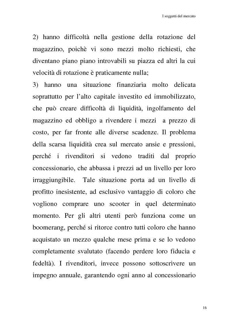 Anteprima della tesi: La commercializzazione delle moto in Italia e gli effetti della rottamazione sui C/F, Pagina 12