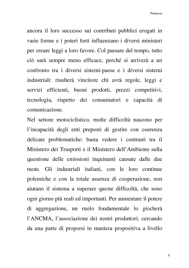 Anteprima della tesi: La commercializzazione delle moto in Italia e gli effetti della rottamazione sui C/F, Pagina 2