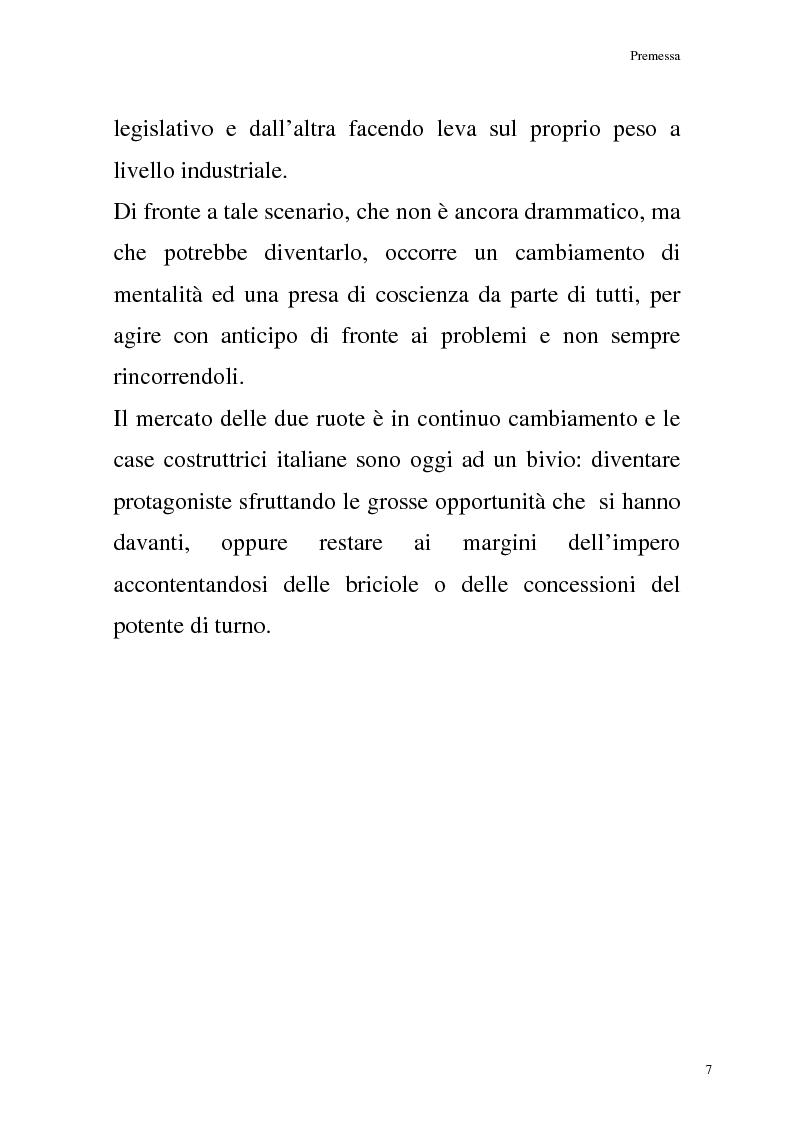 Anteprima della tesi: La commercializzazione delle moto in Italia e gli effetti della rottamazione sui C/F, Pagina 3