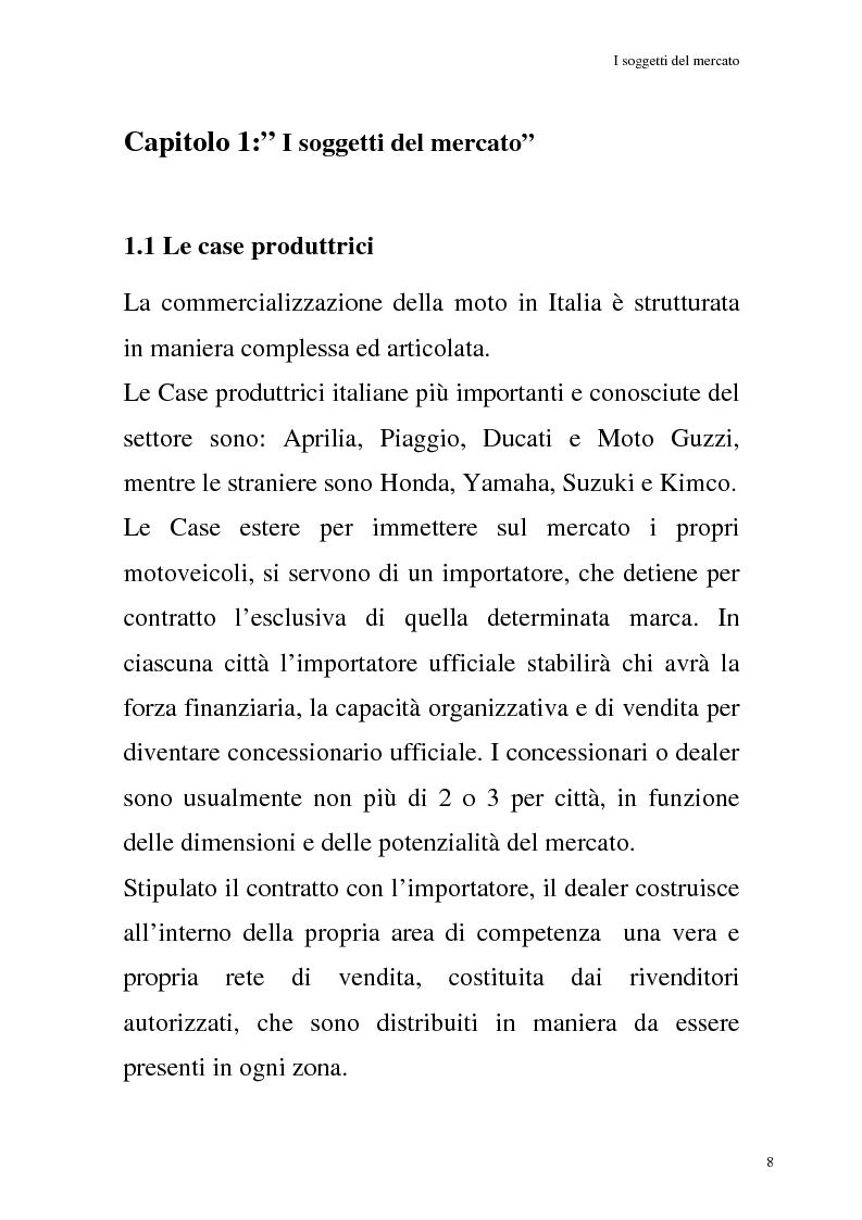 Anteprima della tesi: La commercializzazione delle moto in Italia e gli effetti della rottamazione sui C/F, Pagina 4