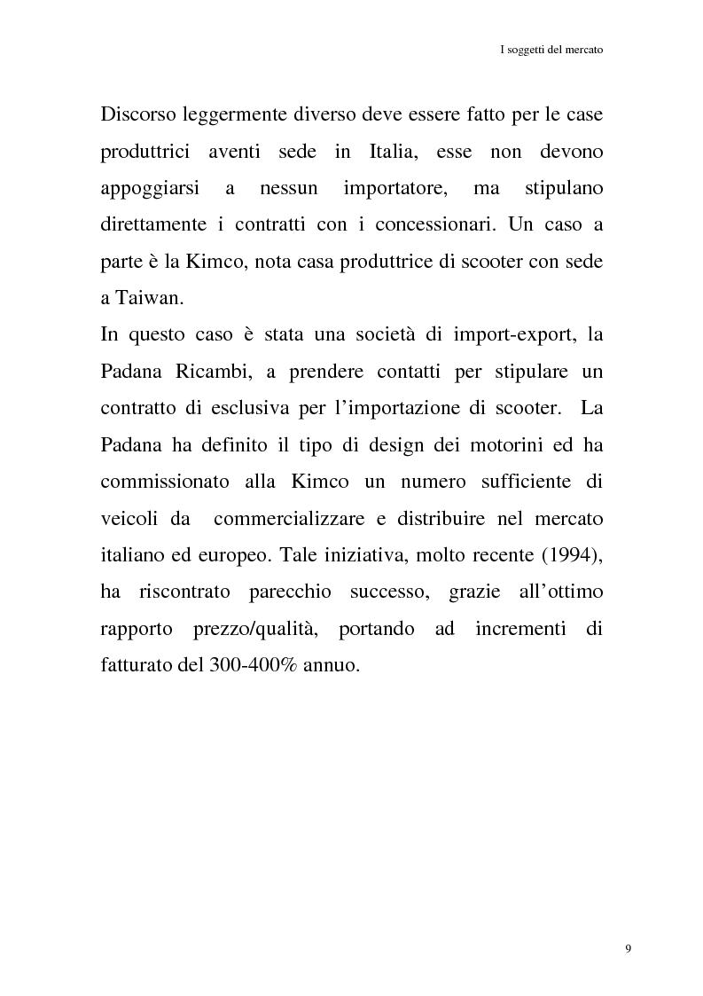Anteprima della tesi: La commercializzazione delle moto in Italia e gli effetti della rottamazione sui C/F, Pagina 5