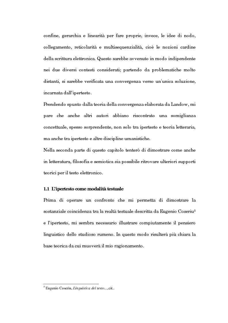 Anteprima della tesi: Un'analisi linguistica dello spazio ipertestuale, Pagina 13