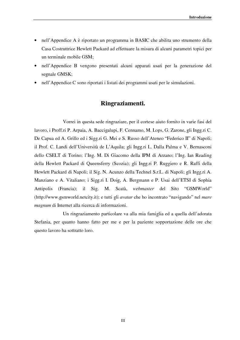 Anteprima della tesi: Misure a radiofrequenza per la verifica di conformità di terminali mobili GSM: aspetti normativi e nuove proposte, Pagina 3