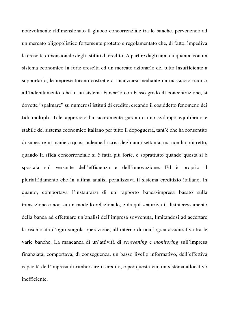 Anteprima della tesi: Il nuovo rapporto banca impresa: grandi fidi e legame partecipativo, Pagina 2