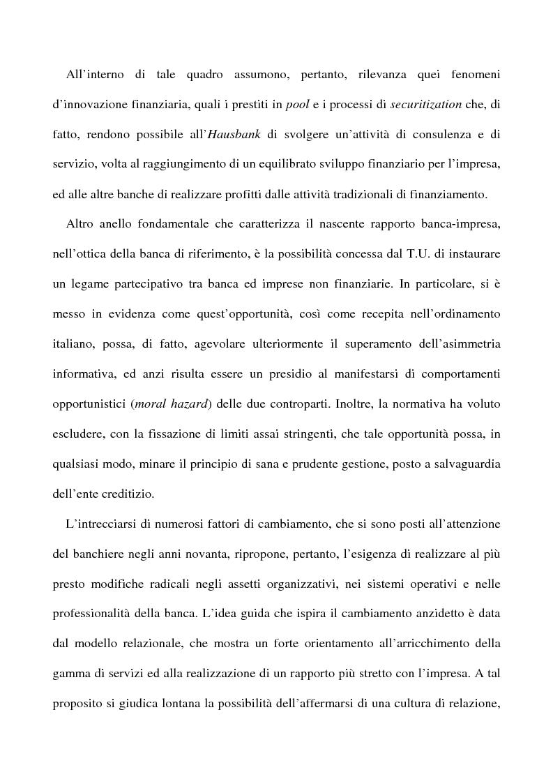 Anteprima della tesi: Il nuovo rapporto banca impresa: grandi fidi e legame partecipativo, Pagina 4