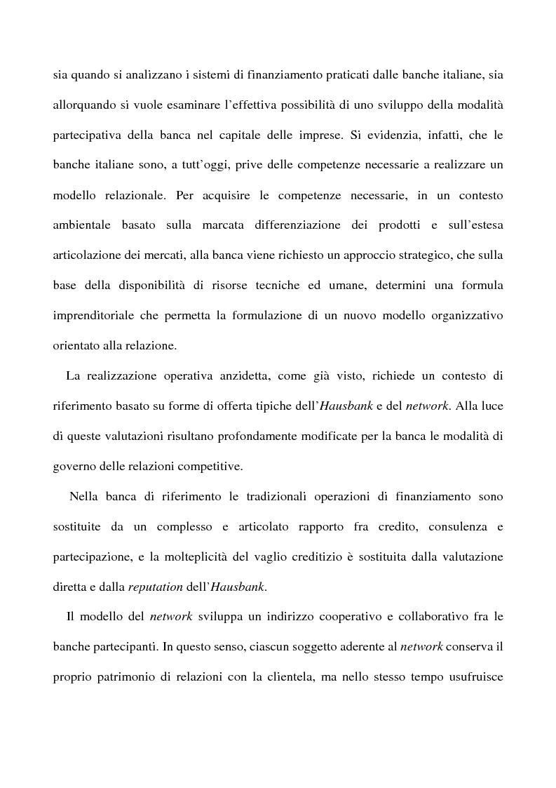 Anteprima della tesi: Il nuovo rapporto banca impresa: grandi fidi e legame partecipativo, Pagina 5