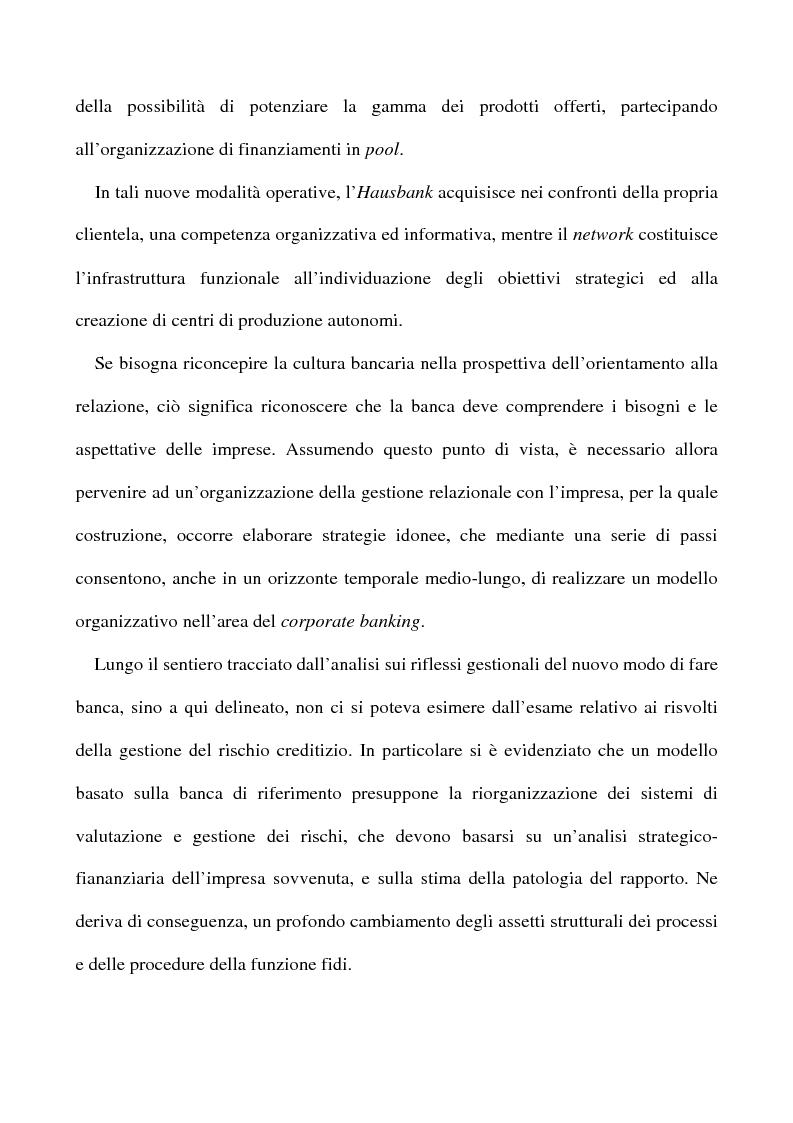 Anteprima della tesi: Il nuovo rapporto banca impresa: grandi fidi e legame partecipativo, Pagina 6